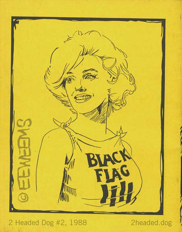 Monroe and Black Flag and Two headed Dog Back Cover