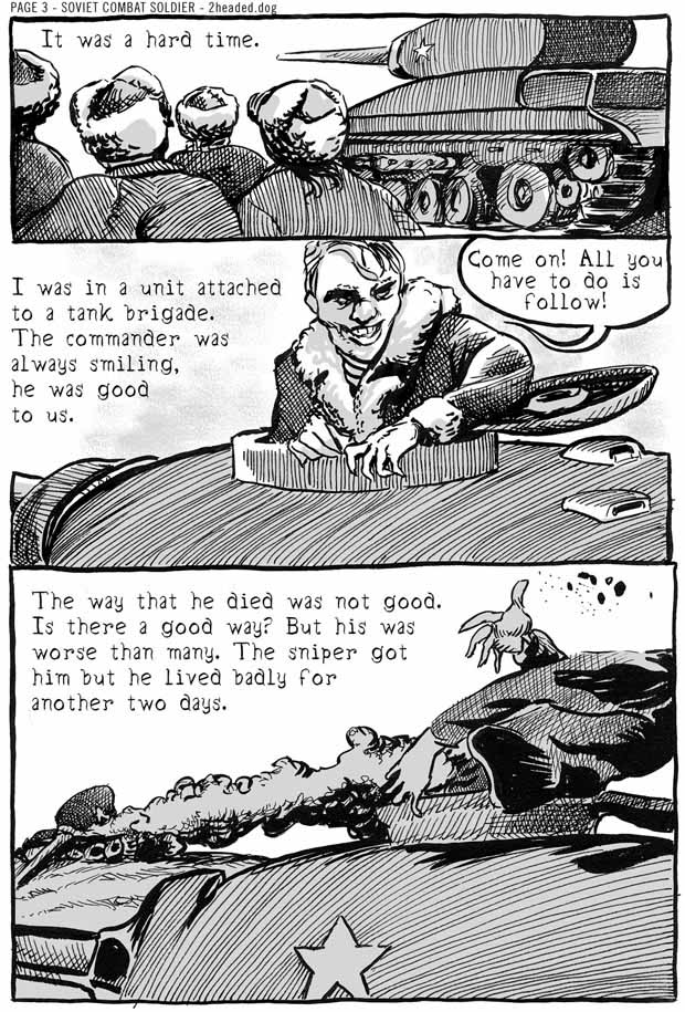 Soviet Combat Soldier Comic Book Page 3